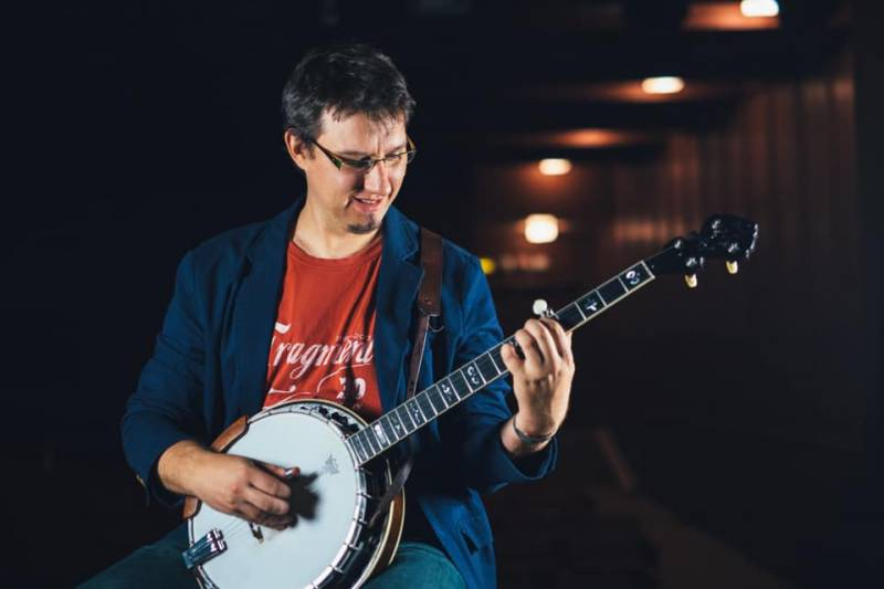 Richard Cifersky (Slovaquie), workshop banjo bluegras en ligne, Barcelona Bluegrass Camp 2021.