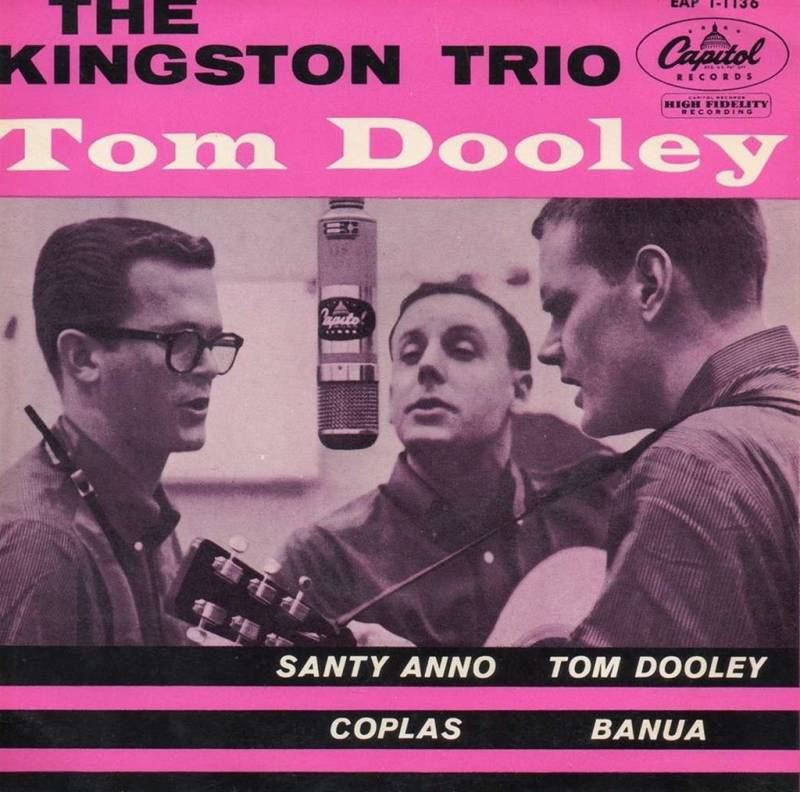 Kingston Trio, le 45 tours comportant Tom Dooley.