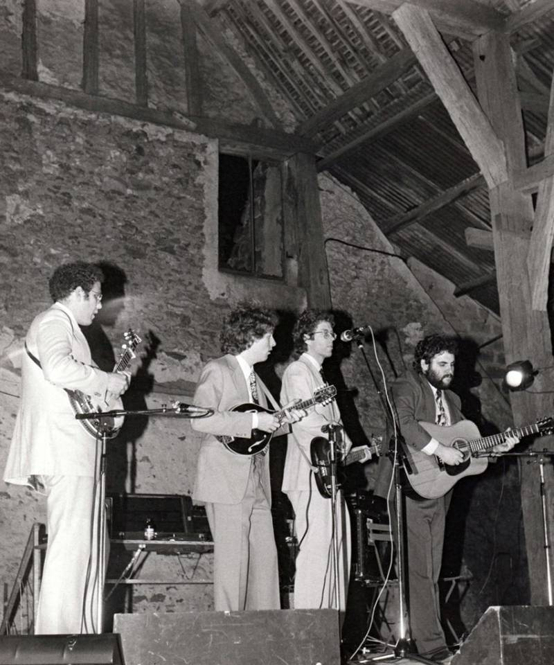 Le groupe Hot Rize lors de son concert à Coulommiers, France, en 1980.