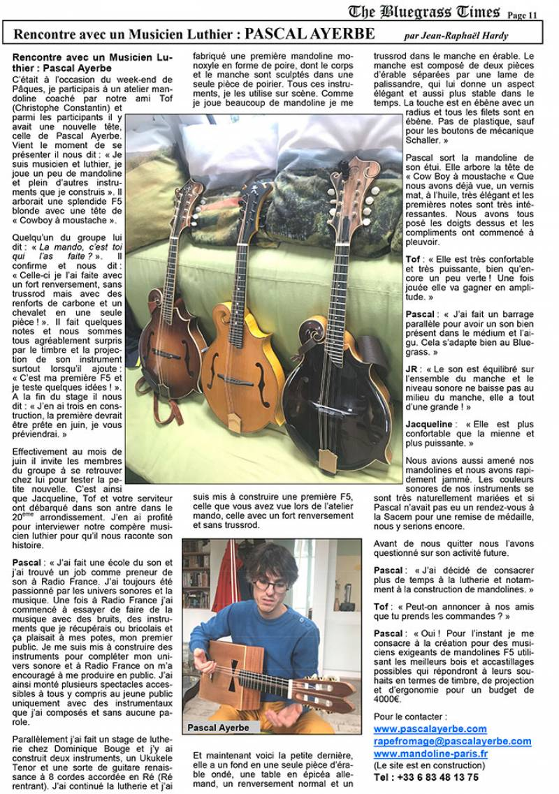 Pascal Ayerbe, musicien et luthier